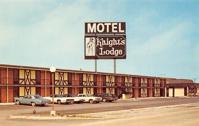West Memphis Arkansas~Knight's Lodge Motel~Armor Sign~1960-70s Cars