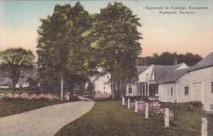 Vermont Plymouth Approach To Coolidge Homestead Albertype