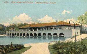 IL - Chicago. Garfield Park Boat House & Pavilion