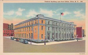 New York Utica Federal Building And Post Office Curteich