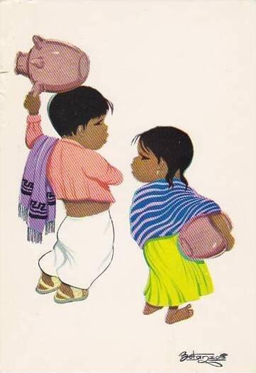 Mexico Children In Regional Dress
