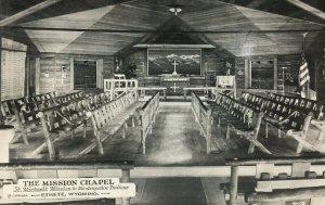 Ethete WY Real Photo Postcard The Mission Chapel Arapahoe Indians RPPC