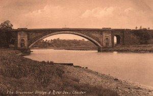 Grosvenor Bridge,River Dee,Chester,England,UK