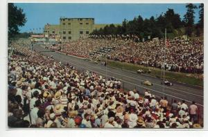 All American Soap Box Derby Race in Progress Racing Akron Ohio postcard