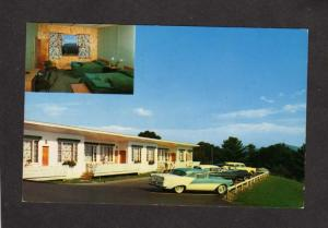 NH New Hampshire Shangri La Motel Weirs Beach Chevy Lake Winnipesaukee Postcard