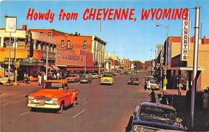 Cheyenne WY Woolworth's Storefronts Old Cars Trucks Postcard