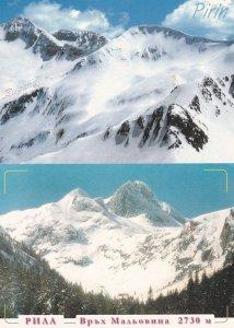 Pirin Bulgaria Traveller With Back Ache Skiing 2x Beautiful Postcard s