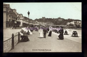 tp2294 - Kent - Early View of Ladies along the Marine Parade, Dover  - postcard
