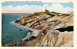 MA - Martha's Vineyard Island. Gay Head Cliffs and Lighthouse