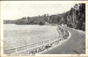 Bournedale Cape Cod MA Along the Shore c1920 Postcard