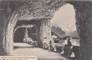Switzerland Gallerie an der Axenstrasse mit Bristenstock