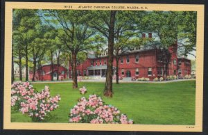 North Carolina colour Atlantic Christian College, Wilson, N.C unused