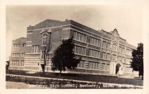 Newberry Michigan~Newberry High School~Corner View~Vintage RPPC