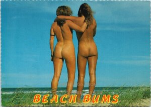 Greetings from Coffs Harbour NSW Beach Bums Nude Women Naked Postcard C3