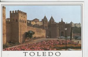 Postal 07663 : Toledo, Puerta Bisagra y murallas
