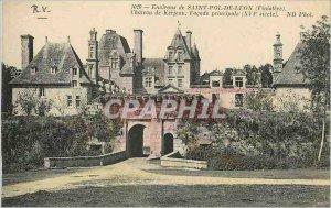 Postcard Old Surroundings of Saint Pol de Leon (Finistere) Castle Kerjean mai...