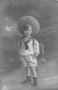 US3288 Little Boy Postcard real photo social history germany confirmation