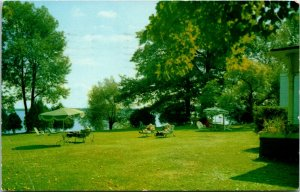 Postcard ON Orillia Birchmere Hotel (Retirement Home) Lake Couchiching 1967 K10