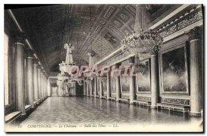 Old Postcard Compiegne Chateau Salle Des Fetes