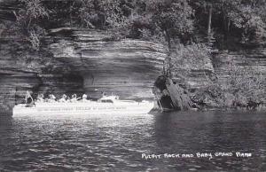 Wisconsin Dells Pulpit Rock &  Baby Real Photo RPPC