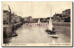 St Valery - The Port Quays - The Locks - Old Postcard