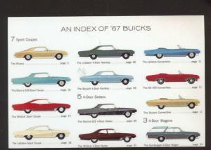 1967 BUICK AUTOMOBILE CAR DEALER ADVERTISING POSTCARD RIVIERA AUTOMOBILE '67
