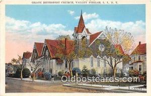 Churches Vintage Postcard Valley Stream, LI, NY, USA Vintage Postcard Grace M...