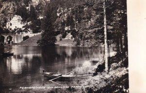 Fernsteinsee Und Schloss Fernstein Boat Lake Austria RPC Postcard