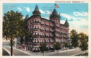 The Palatine Hotel, Newburgh, New York,  Early Postcard, Used in 1929