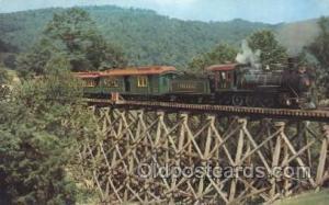Tweetsie Railroad Train Trains Locomotive, Steam Engine,  Postcard Postcards ...