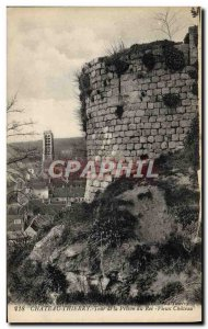 Old Postcard Chateau Thierry Tower Prison Old castle of King