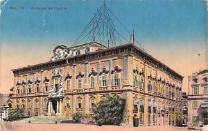 Malta Valletta Auberge de Castille 1916 PPC