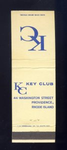 KC Key Club Match Cover/Matchbook, Providence, RI/Rhode Island, 1960's?