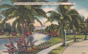 Florida Miami Beach Indian Creek Showing Roney Plaza 1951