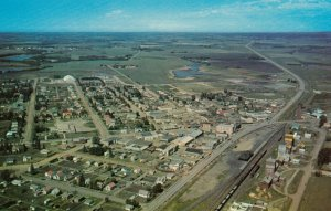 LACOMBE , Alberta, Canada, 50-60s; Air View