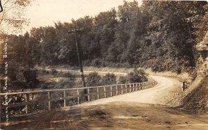 G45/ Jordan New York RPPC Postcard c1910 State Road Fence