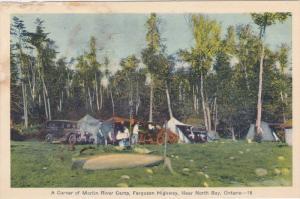 NORTH BAY, Ontario, Canada, 1900-1910´s; A Corner Of Martin River Camp, Ferg...