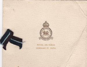 Official Greetings Card for RAF Horsham St Faith with Meteor photo inside 1940s