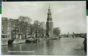 Netherlands Amsterdam C. Montelbaanstoren RPPC - unposted
