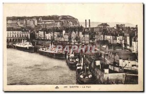 Dieppe - The Port Old Postcard