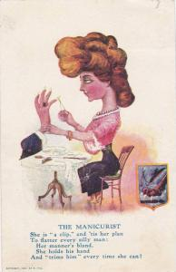 Portrait of the Manicurist, Poem, Exagerated proprtions, PU