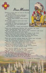 Indian New Mexico With Poem by Anna B Stevenson Curteich