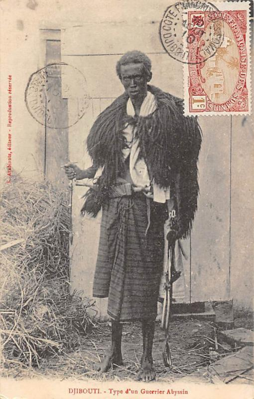 Djibouti Type d'un Guerrier Abyssin, Native Warrior 1910