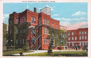 Gale Hospital, Haverhill, Massachusetts, Early Postcard, Unused