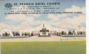 MONTGOMERY, Alabama; St. Francis Hotel Courts, The Traveler´s Home of Distincti