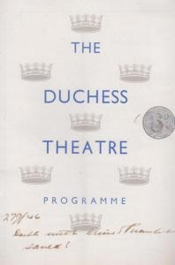 Love Goes To Press Gerald Anderson Comedy Duchess Theatre Programme
