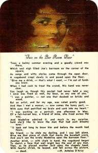Face on the Bar Room Floor - Poem - Teller House in Central City CO, Colorado