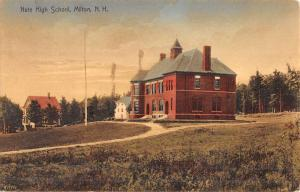 Milton New Hampshire Nute High School Street View Antique Postcard K49133