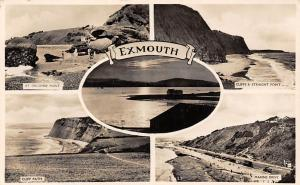 Exmouth Orcombe Point Cliff Straight Point Cliff Path Marine Drive Bus Cars 1955