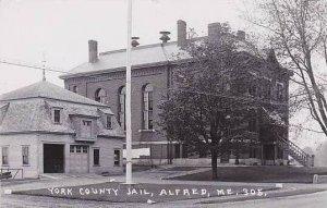 Maine Alfred York County Jail Church Real Photo RPPC